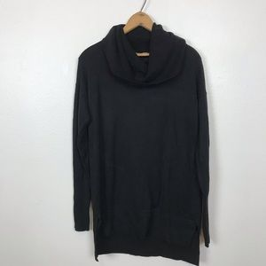 Loft  black cowl neck tunic sweater